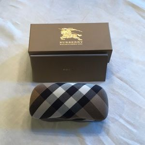 Burberry sunglass case and box only